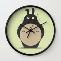 totes Wall Clocks featuring totes by pixel.pwn | AK