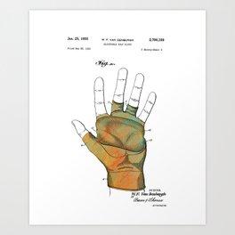 Golf Glove Patent 1955 Art Print