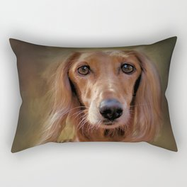 Saluki Portrait Of The Ancient Hound Rectangular Pillow