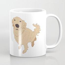 Golden Retriever Illustration on a White Background Coffee Mug