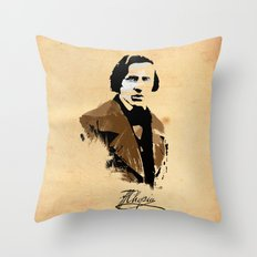 Frederic Chopin - Polish Composer, Pianist Throw Pillow