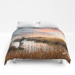 Sunset in the Wetlands Comforters