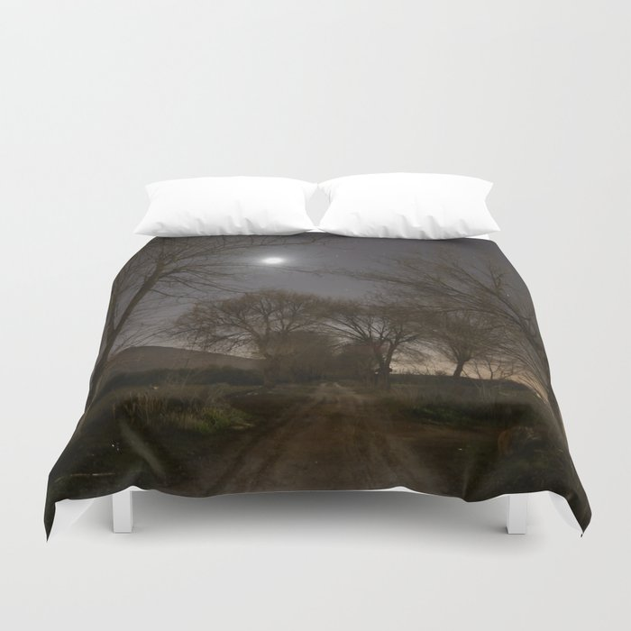 Into the Moonlight Duvet Cover