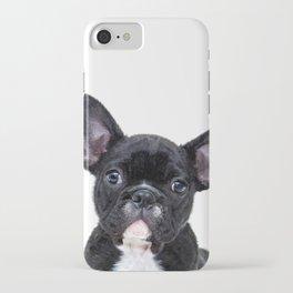 French bulldog portrait iPhone Case