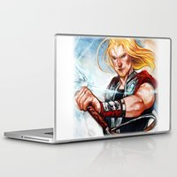 thor Laptop & iPad Skins featuring Thor by Boisson