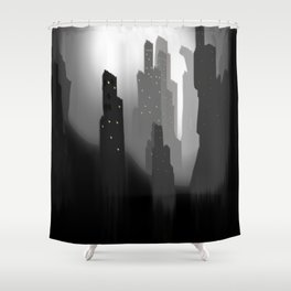 jungian city Shower Curtain
