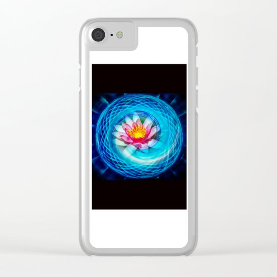 Wellness Water Lily Clear iPhone Case