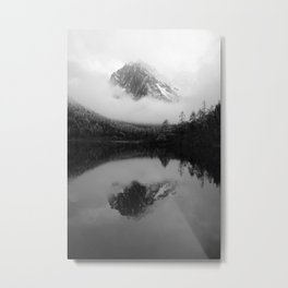 Black and White Sichuan Mountains China Metal Print