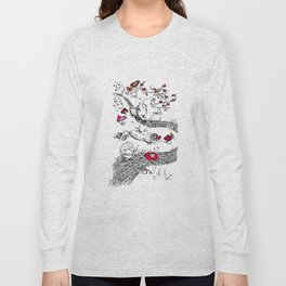 Animals wood Long Sleeve T-shirt