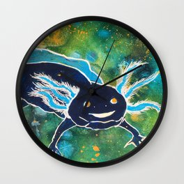 Navy Cosmic Astra-lotl Wall Clock
