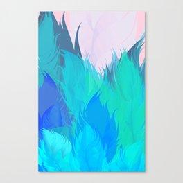 After The Rain Aqua Blue Canvas Print