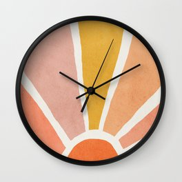 Sun, Mid century modern kids wall art, Nursery room Wall Clock
