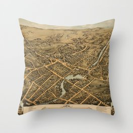 Stamford Connecticut 1875 Throw Pillow