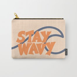 Stay Wavy Surf Type Carry-All Pouch
