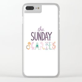 The Sunday Scaries Clear iPhone Case