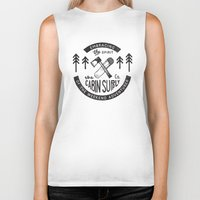 cabin Biker Tanks featuring Cabin Supply by cabin supply co