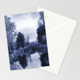Chinese Bridge at Wrest Park in Blue Stationery Cards