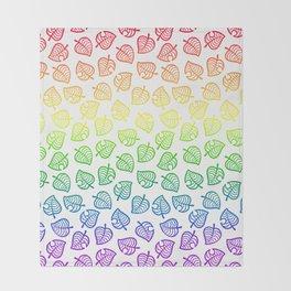 animal crossing villager nook shirt pattern gay pride Throw Blanket