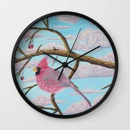 L'amour couleur barbe à papa Wall Clock
