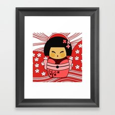 Kokeshi Sakura Framed Art Print