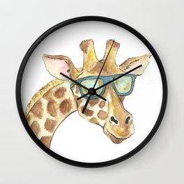 giraffe in sunglasses Wall Clock