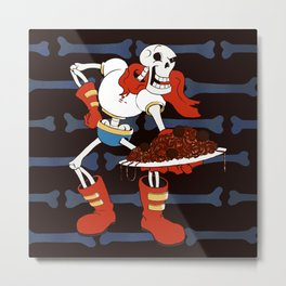 Papyrus and his Spaghetti Metal Print