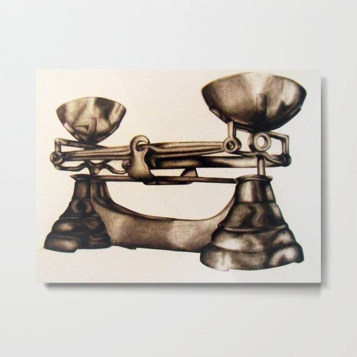 Measuring Scales Metal Print