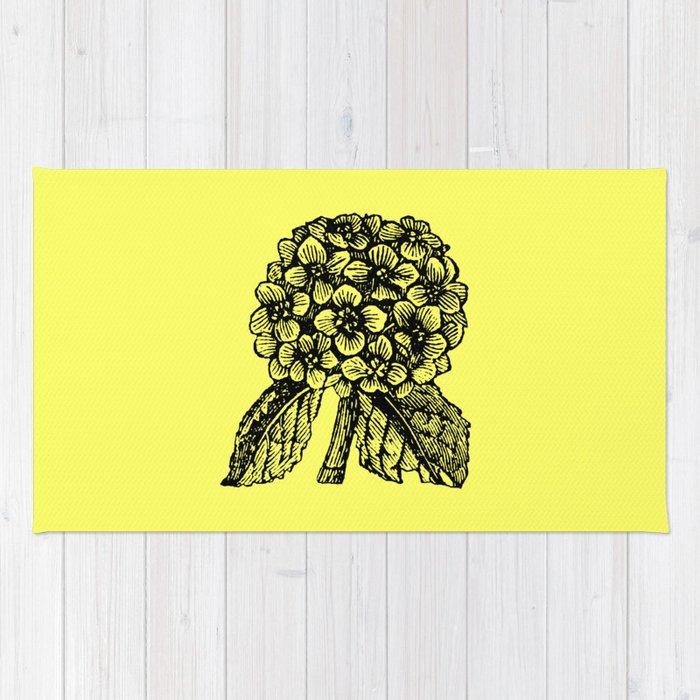 Yellow Hydrangea Rug