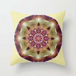Mandalas from the Heart of Peace 1 Throw Pillow