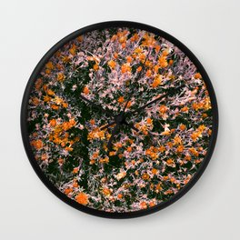 Bushes with Flowers All Over  Wall Clock