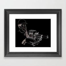 Gasmask Projector                          Framed Art Print
