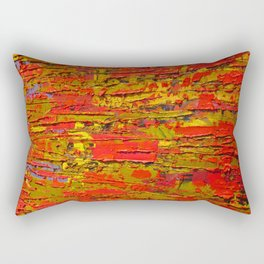 Up Close & Personal with Red Townscape II, #1 Rectangular Pillow