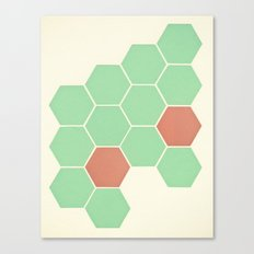 Mint Honeycomb Canvas Print