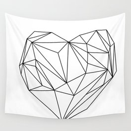 Heart Graphic (black on white) Wall Tapestry