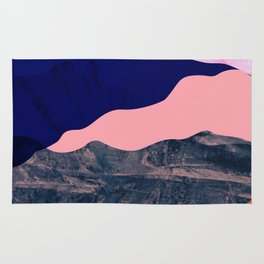 Graphic volcanic mountains Rug