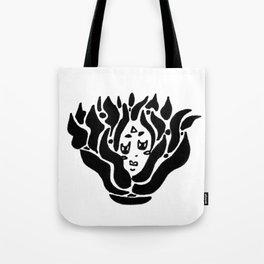 fire spirit (bw) Tote Bag
