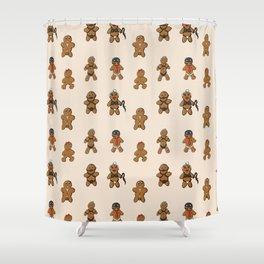 BDSM Gingerbread Shower Curtain