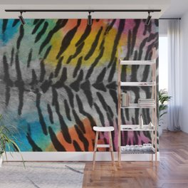 Psychedelic Night Tiger Skin Wall Mural