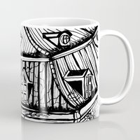 copenhagen Mugs featuring Copenhagen by intermittentdreamscapes