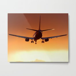 Southwest Airlines 737-300 Sunset Landing Metal Print