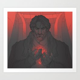 75f7166b DH: Corvo the Black - Heart Art Print