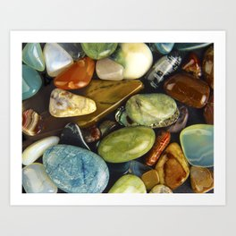 Jewel of the Little Gems - well actually polished stones...... Art Print
