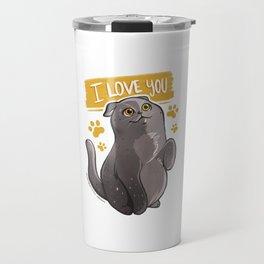 I Love You - Gatolinas Travel Mug