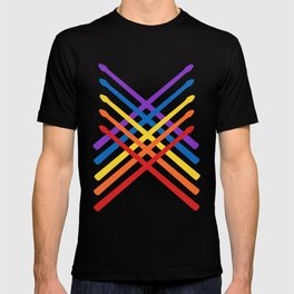Retro Musician Drum Sticks T-shirt