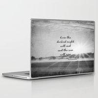 les miserables Laptop & iPad Skins featuring Les Miserables Quote Victor Hugo by KimberosePhotography