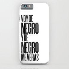 Voy de negro — Letterpress (White) iPhone 6s Slim Case