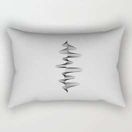 Abstract 80s Soundwave Art Music Audio black and white Musical design home wall bedroom decor Art Pr Rectangular Pillow