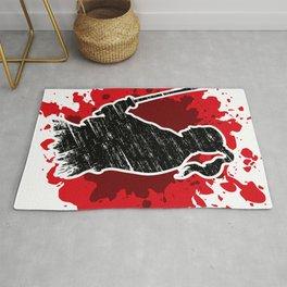 Samurai red Rug