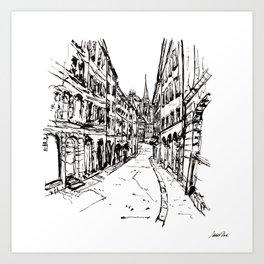 Urban Inkscape 8 Geneva Art Print