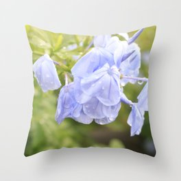 Drooping Purple Flowers Throw Pillow